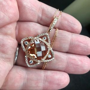 Jewelry - 11.72 Ct golden morganite Northern star necklace